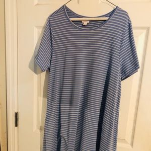 EUC Blue and Cream Striped XL Carly Dress